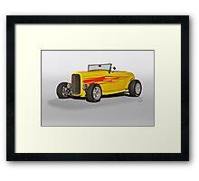 1932 Ford Roadster w Flames Framed Print