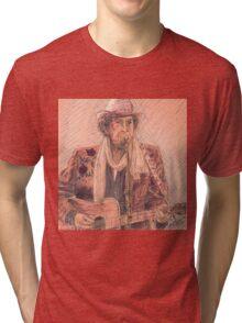 BOB DYLAN PERFORMING Tri-blend T-Shirt
