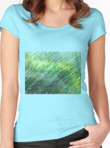 Earth Tones in Oil Pastel Women's Fitted Scoop T-Shirt