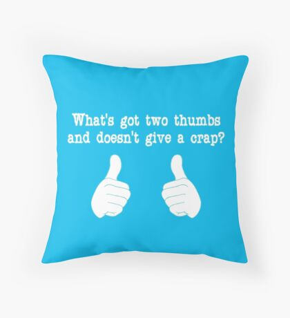 What's got two thumbs? Throw Pillow