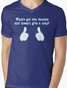What's got two thumbs? Mens V-Neck T-Shirt