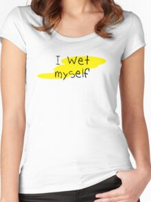ABDL - I Wet Myself Women's Fitted Scoop T-Shirt