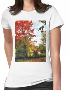 Distant Mill  in Autumn Womens Fitted T-Shirt