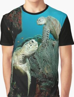 Turtle in the Ocean Graphic T-Shirt