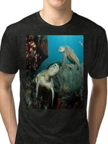 Turtle in the Ocean Tri-blend T-Shirt
