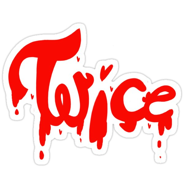 dripping twice logo stickers by clemtalope redbubble