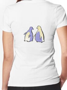 penguins Women's Fitted V-Neck T-Shirt