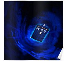 tardis in a black hole Poster