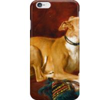 Jacques Raymond Brascassat - A greyhound resting on the chair  iPhone Case/Skin