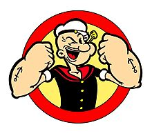 Strong Popeye Photographic Print