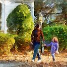Family - Mother and Daughter Taking a Stroll by Susan Savad