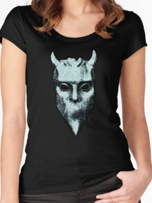 NAMELESS GHOUL - marble oil paint Women's Fitted Scoop T-Shirt