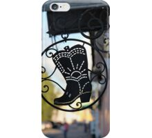 Signboard a boot iPhone Case/Skin