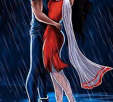 Kissing in the Rain:Sivappu Kal Mookuthi Tamil Comics Merchandise by Nandhini JS