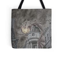 Hungarian Horntail Dragon in Red Tote Bag
