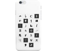 Alphabet Print iPhone Case/Skin