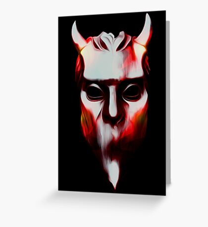 NAMELESS GHOUL - hot lava oil paint Greeting Card