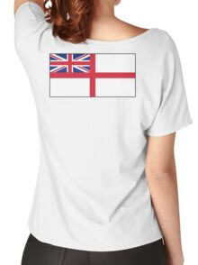 White Ensign, Flag, Royal Navy, Ships, St George's Cross, St George's Ensign, Navy, Blue Women's Relaxed Fit T-Shirt