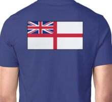 White Ensign, Flag, Royal Navy, Ships, St George's Cross, St George's Ensign, Navy, Blue Unisex T-Shirt