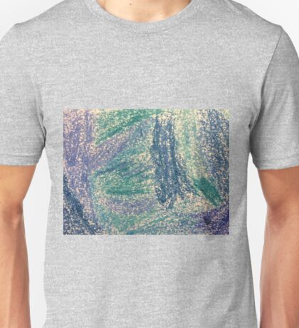Forest In Shades of Blue Oil Pastel Art Unisex T-Shirt
