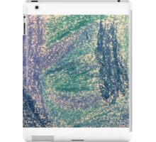 Forest In Shades of Blue Oil Pastel Art iPad Case/Skin