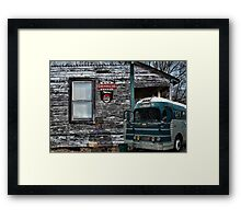 Memories Of The Greyhound Bus  Framed Print