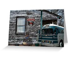 Memories Of The Greyhound Bus  Greeting Card