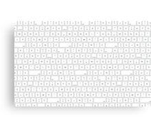 keyboard - letters - space - bottons Canvas Print