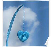 Blue Blue Heart Poster