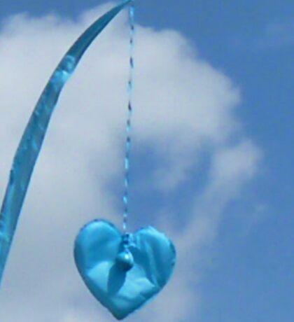Blue Blue Heart Sticker