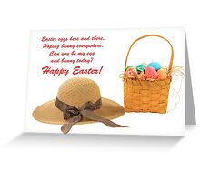 Easter Eggs Card Greeting Card