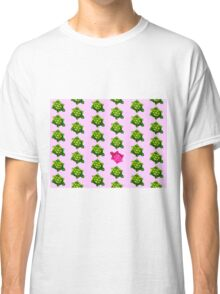Pink Turtle Walking Against The Flow Classic T-Shirt