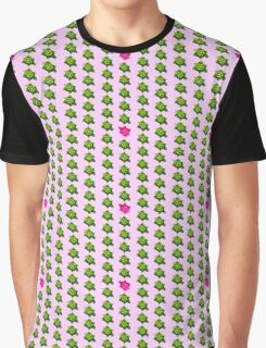 Pink Turtle Walking Against The Flow Graphic T-Shirt