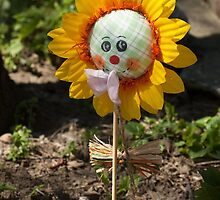 Happy Easter yellow sunflower by igorsin
