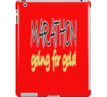 RUN, JOG, MARATHON, Going for gold, 26 miles, 42 kilometres, running, jog, jogging, Red iPad Case/Skin