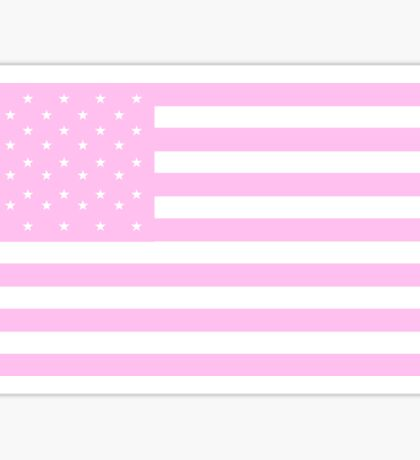 PINK, American Flag, United States of America, American flag in Pink, Stars & Stripes in Pink, America, USA Sticker
