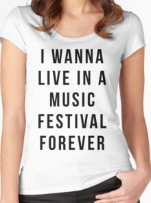 Live Music Festival Quote Women's Fitted Scoop T-Shirt