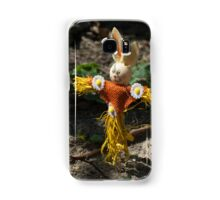 Happy easter with easter rabbit Samsung Galaxy Case/Skin