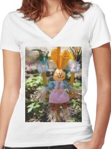 Funny easter bunny Women's Fitted V-Neck T-Shirt