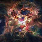 Einstein's Brain Generative Abstract Portrait Art by Jim Plaxco