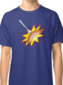 Flying sausage - Grange Hill pop art stylee Classic T-Shirt