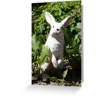 Happy easter white easter bunny Greeting Card