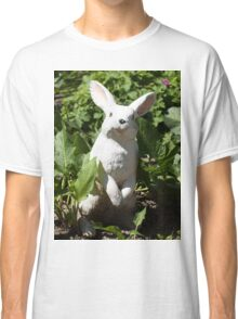 Happy easter white easter bunny Classic T-Shirt