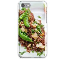 Red Quinoa with Sugar Snap Peas iPhone Case/Skin