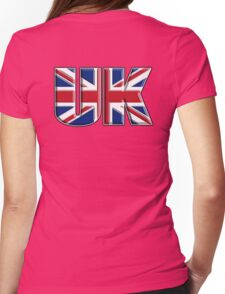 UK, Flag, Union Jack, British, United Kingdom, Blighty, on WHITE Womens Fitted T-Shirt
