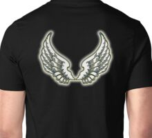 WINGS, ANGEL, angelology, Flight, Fly, Angel, Angelic, Air Force, Jets, on BLACK Unisex T-Shirt