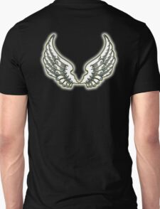 WINGS, ANGEL, angelology, Flight, Fly, Angel, Angelic, Air Force, Jets, on BLACK T-Shirt