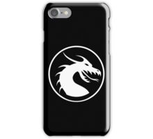DRAGON, HEAD, CIRCLE, SYMBOL, LOGO, WHITE iPhone Case/Skin