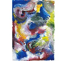 Original Abstract Acrylic Painting Photographic Print