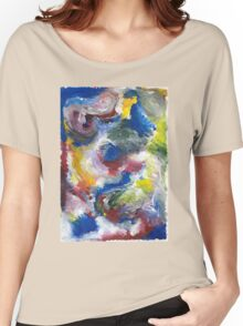 Original Abstract Acrylic Painting Women's Relaxed Fit T-Shirt